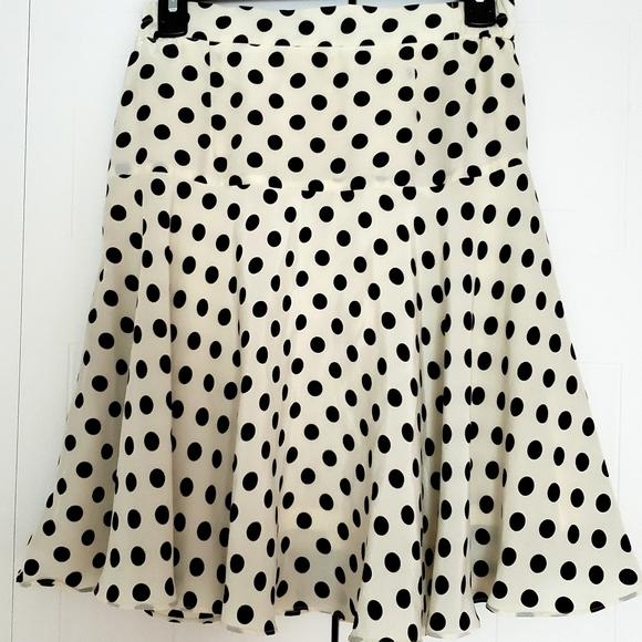 Vintage polka dot skirt size small